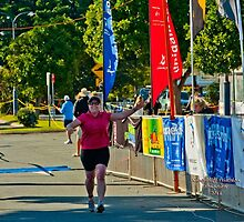 Kingscliff Triathlon 2011 Finish line B6046 by Gavin Lardner