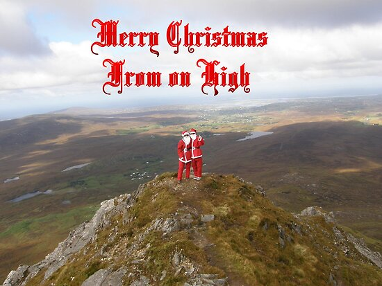 Santa  From on High by mikequigley