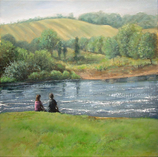 By the weir by Carole Russell