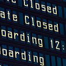 Airport information board. by FER737NG