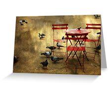 Festin de pigeons Greeting Card