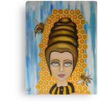 Queen Bee and the nectar of the gods Canvas Print