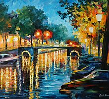 AMSTERDAM'S REFLECTIONS - LEONID AFREMOV by Leonid  Afremov