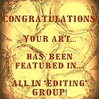 TEMP  banner for featured art for All In  *Editing* group by linmarie