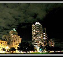 Milwaukee at night © by Dawn M. Becker