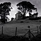Balvaird Castlie in B&W by chriscyner