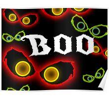 Glowing Eye Boo Halloween design Poster