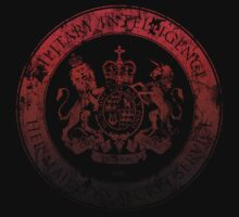 On her Majesty's secret service logo  - RED/BLACK by bengrimshaw
