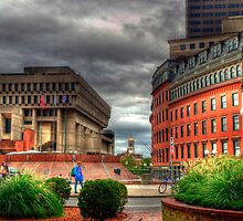 Boston City Hall by Monica M. Scanlan