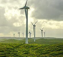 Windfarm on a wild WA coast by Simon Bannatyne