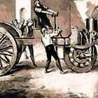 Industrial Revolution - The World's First Steam Tractor Crashing Into A Wall by Dennis Melling