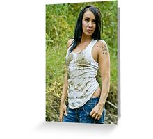 Dirty White Tank Top Greeting Card