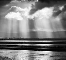 Sunlight over Berrow Flats, Somerset, England by Craig Joiner