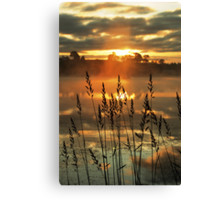 Morning Mist above the Loch Canvas Print