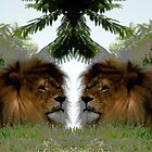 Identical  Lions by TheBrit