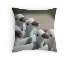 Ducks in a row ..... Throw Pillow