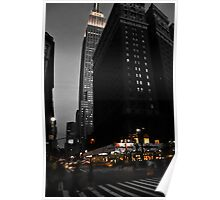 NYC Empire State Building at dusk Poster