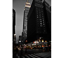 NYC Empire State Building at dusk Photographic Print