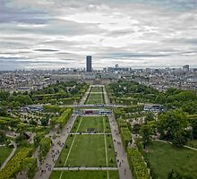 Champs de Mars, from the tower by Philip Kearney