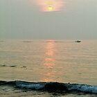 sunrise boat by Phlite