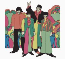 The Beatles Yellow Submarine T-Shirt by retrorebirth