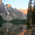 Lake Moraine, sunrise by Philip Kearney