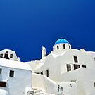 Chapel and white houses in Santorini Island. by FER737NG