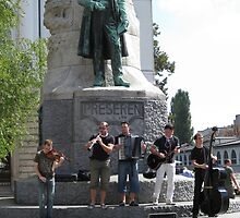 Buskers in Ljubljana  by machka