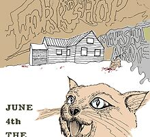 Sparrow & The Workshop Gig Poster by Kristoph