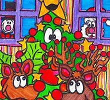 Reindeer 'round the tree by Sammy Nuttall