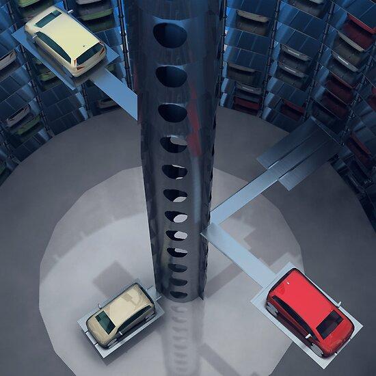 Urban Car Park Interior by Nasko .