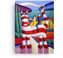 Genetic cat and lovers in softscape with trees Canvas Print