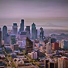 USA. Seattle. Downtown. Sunrise. by vadim19