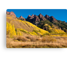 Hills Of Gold - Spikes of Granite Canvas Print