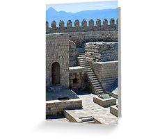 Fortification: Venetian castle (Koules), in Crete, Greece. Greeting Card