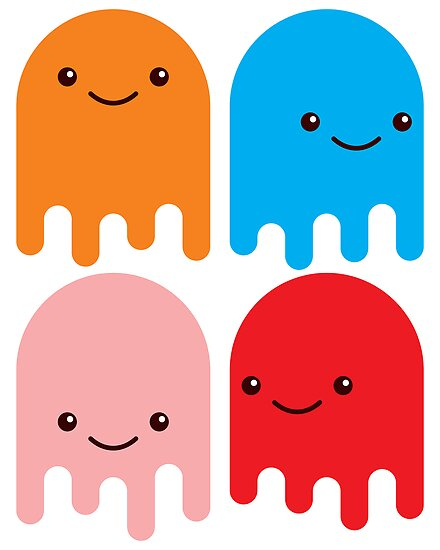 Friendly Ghosts (Print) by Eozen