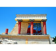Archaeological site of Knossos. Minoan Palace. Crete. Photographic Print