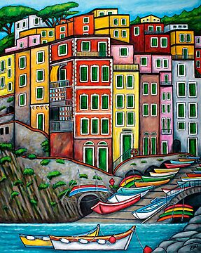 Colours of Riomaggiore, Cinque Terre by LisaLorenz