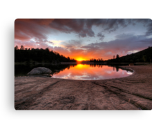 Roundabout Sunset Canvas Print