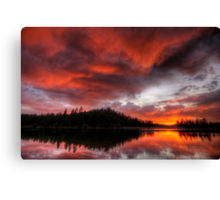 Sunset Looms Canvas Print