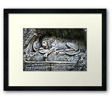 """""""Löwendenkmal"""" Lion of Lucerne Framed Print"""