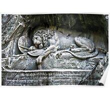 """""""Löwendenkmal"""" Lion of Lucerne Poster"""