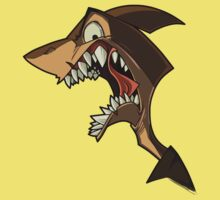 Angry brown shark with shading by Enikő Tóth