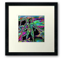 ♂ ∞ ☆ ★ Abraxas Morphesus Alligator Slayer ♂ ∞ ☆ ★ Framed Print