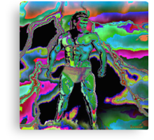 ♂ ∞ ☆ ★ Abraxas Morphesus Alligator Slayer ♂ ∞ ☆ ★ Canvas Print