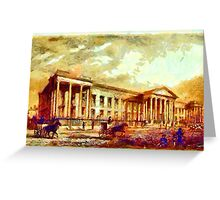 Beautiful Britain - The New Post Office, London 1830 Greeting Card