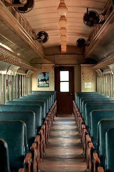 old train interior by larry3 redbubble. Black Bedroom Furniture Sets. Home Design Ideas