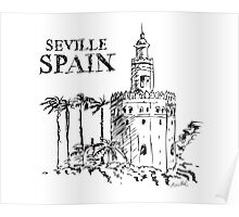 The Torre de Oro naval tower in Seville, Spain. Poster