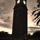 Birds by clock Tower  by LJ_©BlaKbird Photography