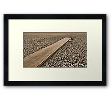 All Dried Up - Mudflats of Lake Wendouree, Ballarat Framed Print